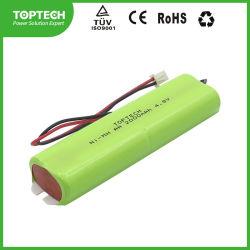 4,8 V AA rechargeables2000mAh Ni-MH haute température/ NiMH Batterie cylindrique pour l'éclairage industriel
