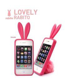 Kaninchen-Silikon-Kasten für iPhone 4G/3G oder HTC (SC-RABITO)