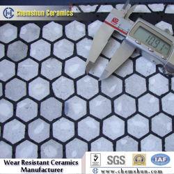 Caoutchouc céramique composite en acier résistant à la chemise en l'usure des garnitures de goulotte