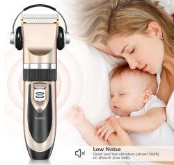 毛クリッパー-人の子供、毛の切断のための8本の接続機構ガイドの櫛が付いているコードレス毛のトリマーの処理キットのためのニースの健康な低雑音の毛クリッパー