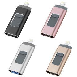 タイプC/マイクロ電光USBのための1台のUSBのフラッシュディスクUSBの棒USBのフラッシュ・メモリのフラッシュ駆動機構のペン駆動機構に付き32GB/64GB/128GB 4台