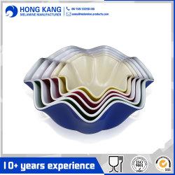 Ciotola di insalata bicolore di marchio del padellame su ordinazione della melammina