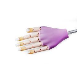 Лак для ногтей искусства практике силиконового герметика стороны модели протезов для ногтей