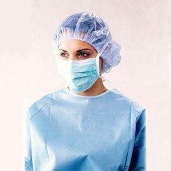 Chapeau de tête jetable médical Infirmière Hat élastique non tissé Cheap Charlottes chirurgicaux