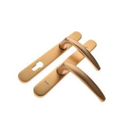 Principal de alumínio Externo Interno banhado a ouro ouro da alavanca da porta cromado de luxo em liga de zinco Bronze puxador de porta