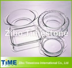 Crystal Clear Hot Sale plat de cuisson en verre borosilicaté, le verre plat de torréfaction (TM011501)