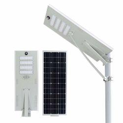 Hepu 30W 60W 70W 80W de luz LED solar calle RoHS alta eficiencia de la certificación de alto brillo solar todo en uno de la luz exterior integrado/Lamp