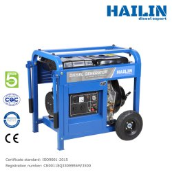 Generatore di potenza diesel HAILIN da 6,5 kw con certificato generatori diesel 127/220V