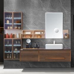 Oppein neuer Entwurfs-modernes hölzernes Badezimmer-Eitelkeits-Möbel-Set