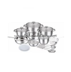17PCS Stepped Edge Popular Stainless Steel Cookware Set