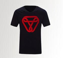 100% algodão Logotipo Tampografia Preto Personalizado Camiseta homens para desportos