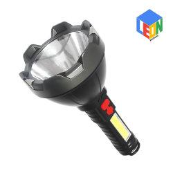 USB 충전식 방수 야외 캠핑 검색 및 작업 LED 손전등