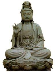 手の切り分けることのGuanyinの大理石の彫像