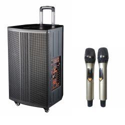 """La frecuencia total de 15"""" de cine en casa HiFi Mini Equipo de DJ de promoción de la etapa de gran potencia Trolley PA altavoz activo con múltiples Bluetooth Multimedia Sistema de Karaoke"""