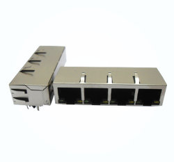Leiterplattenbuchse Modularbuchse RJ45 Jack 1X1 LED mit Transformator