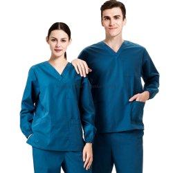Men Women Medical Long Sleeve Scrub Tops Wholesale