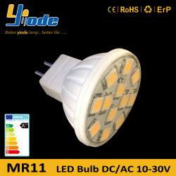 10-30 فولت MR11 5050 شريحة خزفية قاعدة سيليكون غطاء LED ضوء LED