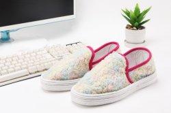 女性の方法花の芸術偶然旅行靴