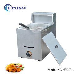 Commercial Catering Equipment 1 탱크탑 압력 프렌치 프라이입니다 프라이 머신 레스토랑 가스 전기 딥 치킨 프라이어