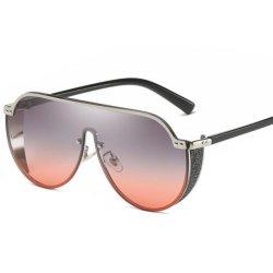 2019の新しい方法贅沢な女性のラインストーンの平屋建家屋UV400の特大盾様式のサングラス