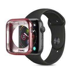 Halbes Pakage galvanisierte Uhr-Kasten des Armbanduhr-Kasten-runden Loch-Deckel-TPU für Iwatch