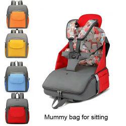 여행 아기를 위한 휴대용 식탁 유아 승압기 시트 책가방 기저귀 부대