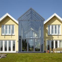 도매가 현대 디자인 삼각형 지붕 에너지 절약 성미 유리제 집 알루미늄 정원 일광실