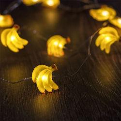 مصباح خيط يعمل بالبطارية يضيء باللون الأصفر لأيقونة بانانا مصباح خيط للديكور المنزلى