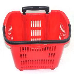 Eccellente qualità due grandi bastone cesto per lo shopping di Supermarket