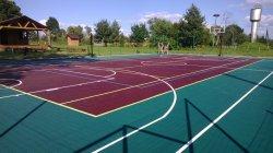 Multisportのスポーツのための容易で、速いインストールに床を張るタイルのバスケットボールコートのフロアーリングのスポーツをかみ合わせるPP