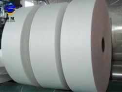 Tessuto biodegradabile ecologico del Nonwoven di Woodpulp&Polyester Spunlace di alta qualità