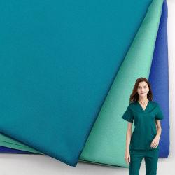 Wicking Medical Hospital Uniform Fabric Agion 50times Waschen 99 antimikrobiell Polyester Rayon Spandex 4 Way Stretch Woven Scrubs Stoff Triblend Einheitlich