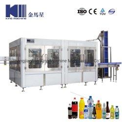 Automatique de bouteille PET aseptique boisson de jus de remplissage à chaud des boissons énergisantes de soude Eau pétillante CSD Boisson gazeuse de l'embouteillage usine de remplissage de la machine d'emballage des produits laitiers
