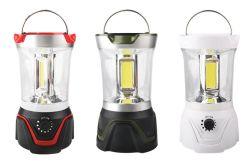 8W luz de acampada, batería de 3D LED Linterna de camping ABS 550lm con regulador de intensidad y brújula