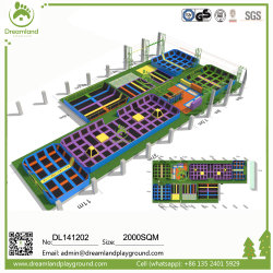 La Chine Fabricant Trampoline professionnel parc commercial de conception personnalisée de saut libre Grand trampoline de jeux intérieure