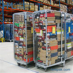 Китай Дешевые Склад Супермаркет Оцинкованный Складной Металлический Ролл Контейнер Тележка