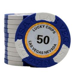 Pook van de Spaander van de Klei van het Metaal van de Gok van Mahjong van het Spel van Casino 1000 van de douane 14G 500 de Zwarte Hefboom Gebraden