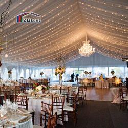 Im Freienweiß Kurbelgehäuse-Belüftung beschichtete Hochzeits-Bankett-Empfang-Ereignis-Kabinendach-Zelt