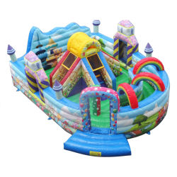 Cheer Amusement Rainbow Kids Inflatable Bouncy Castle For Bouncing, Jumping