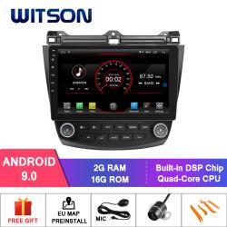 De Kern van de Vierling van Witson GPS van de Speler van de Auto DVD van het Scherm van 10.2 Duim voor Honda Accord 7
