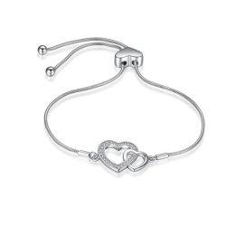 925 серебристые сердце змеи цепи браслеты Bangles для женщин друзья Ювелирные изделия