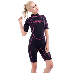 Het Neopreen dat van Shorty van vrouwen Wetsuit met Nylon surft Beide Kanten