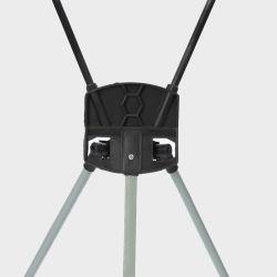 Trépied portable X display statif métallique Corée X Banner Stand 60*80*160 cm 180 cm de fibre noire X-Stand pour la publicité de bannière Trade Show