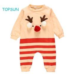 La navidad Recién Nacido bebé niño niña ropa de manga larga vestuario Romper Pajama