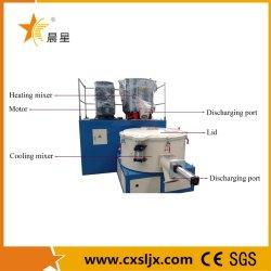 Machine-eenheid voor mengen van hete en koude kunststof