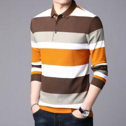 O logotipo da Marca para homens Embrodiery Colar de tecido Golf Polo Shirts