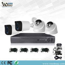 Goede Goedkope 4CH Bovenkant 10 Systeem DVR van de Veiligheid van het Huis het Voltooide van de Camera van 2.0MPkabeltelevisie Toezicht