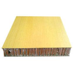 Легкий твердой древесины цвет ячеистых алюминиевых композитных панелей