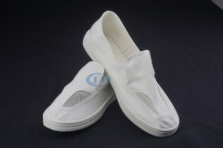 働くことのためのクリーンルームの靴(4つの網目スクリーンの布の靴) ESDの靴か帯電防止靴