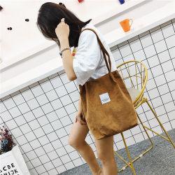 Мара, мечта женщин высокой емкости рубчатый вельвет брелоки дамы повседневный сплошным цветом сумки через плечо